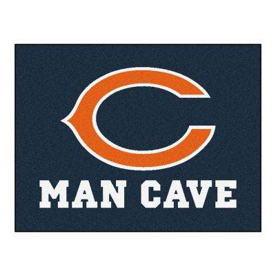 Chicago Bears Blue Man Cave 3 ft. x 4 ft. Area Rug