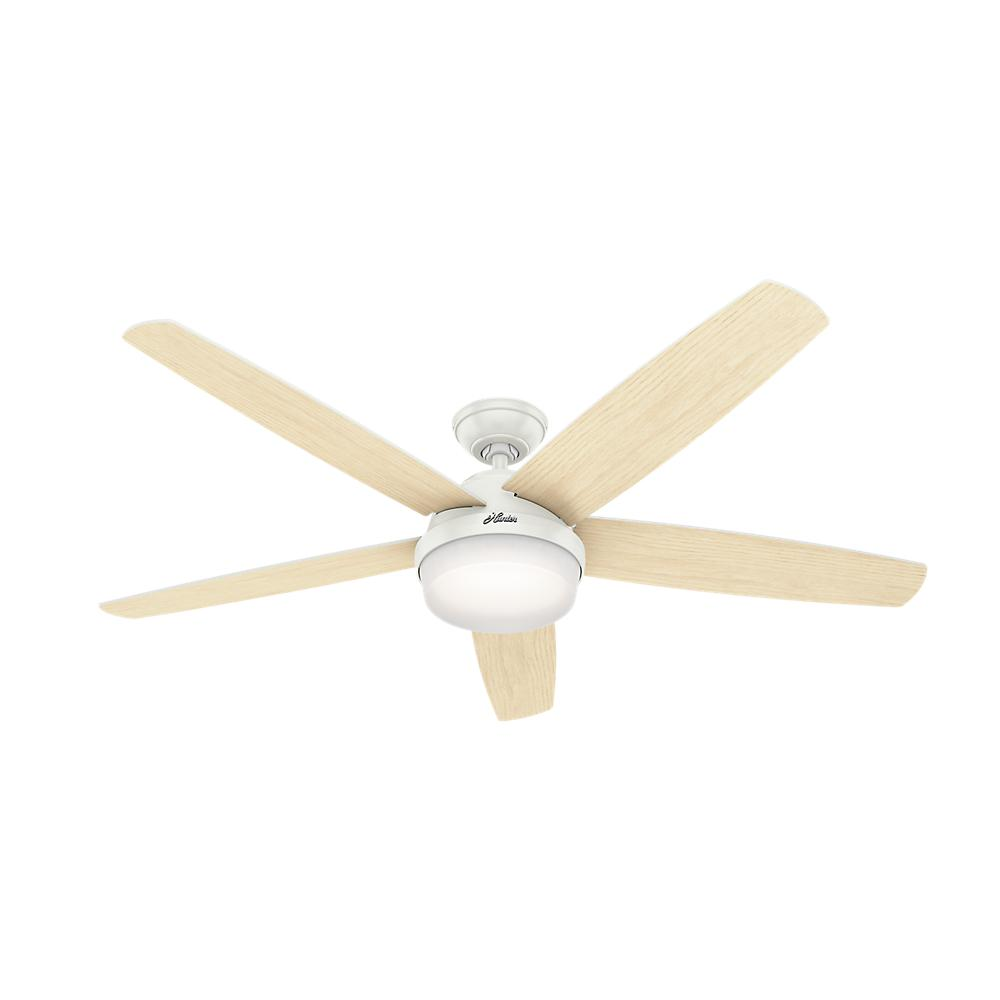 bac5f3cda6c Salido 60 in. LED Indoor Fresh White Ceiling Fan with Light Kit and Remote