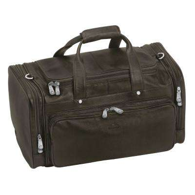 Colombian 10.25 in. Brown Leather Duffle Bag