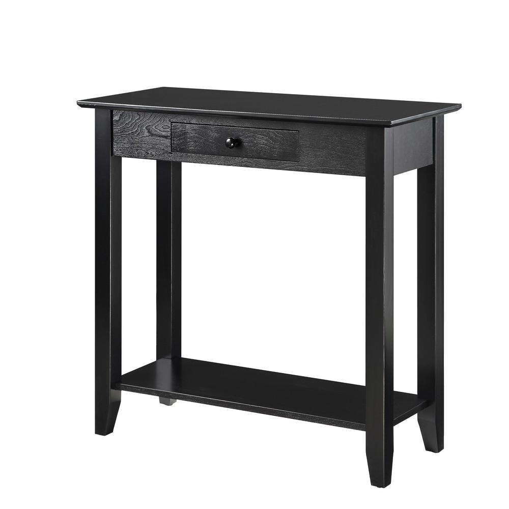 American Heritage Black Hall Table