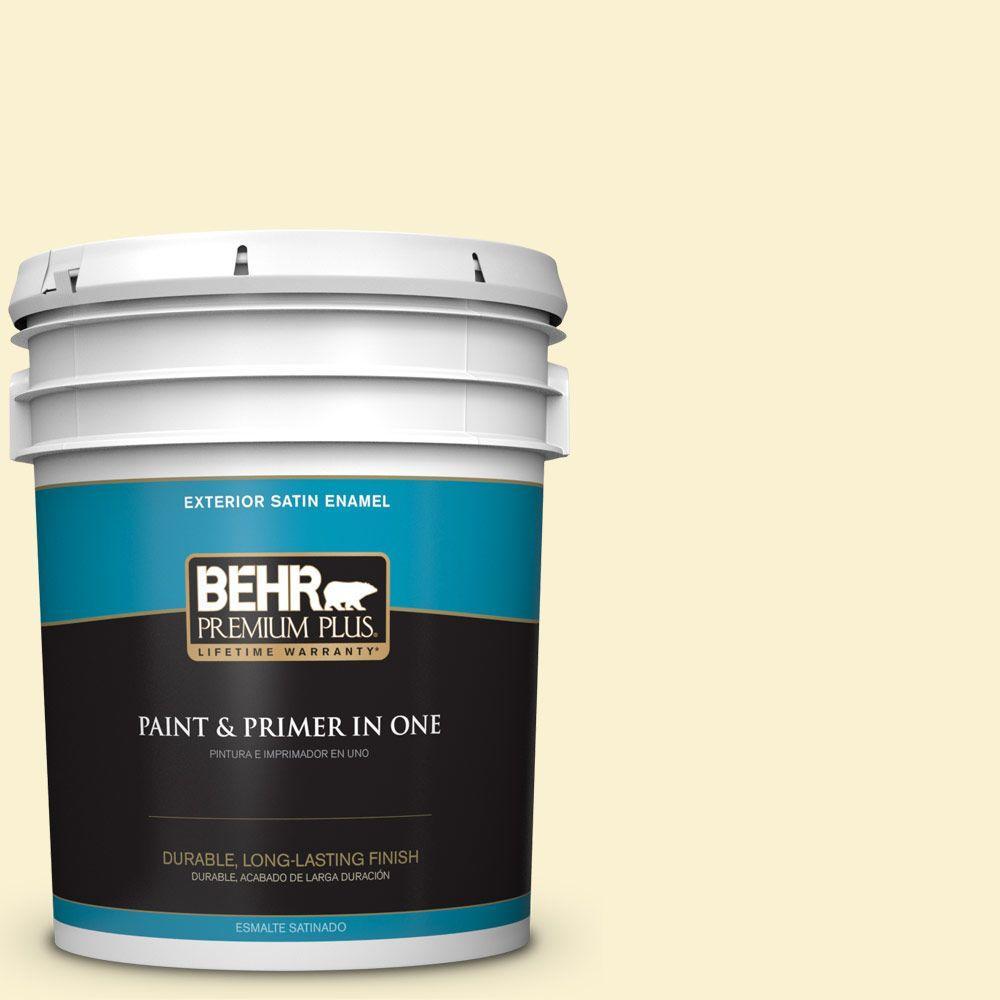 BEHR Premium Plus 5-gal. #ICC-30 Cashmere Sweater Satin Enamel Exterior Paint
