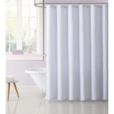 72 in. Stripe Purple Shower Curtain
