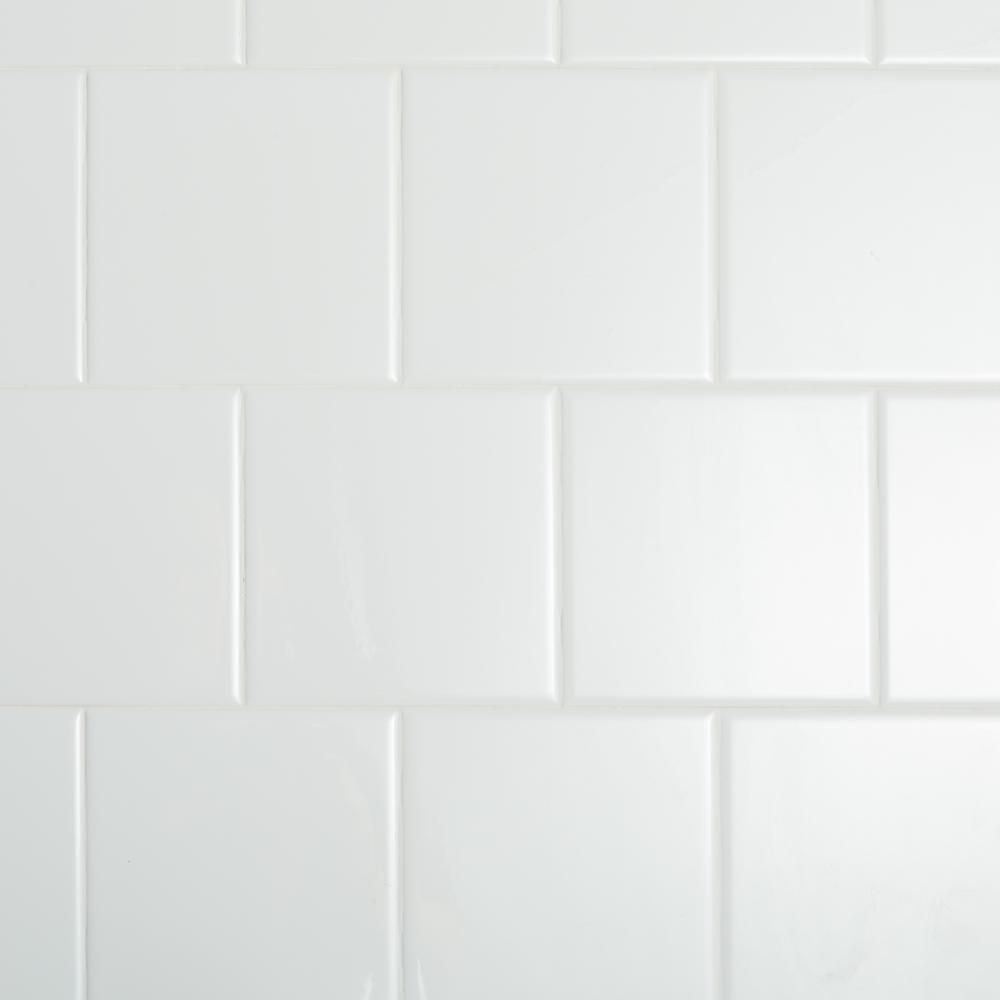 Restore Bright White 6 in. x 6 in. Ceramic Wall Tile (12.50 sq. ft./case)