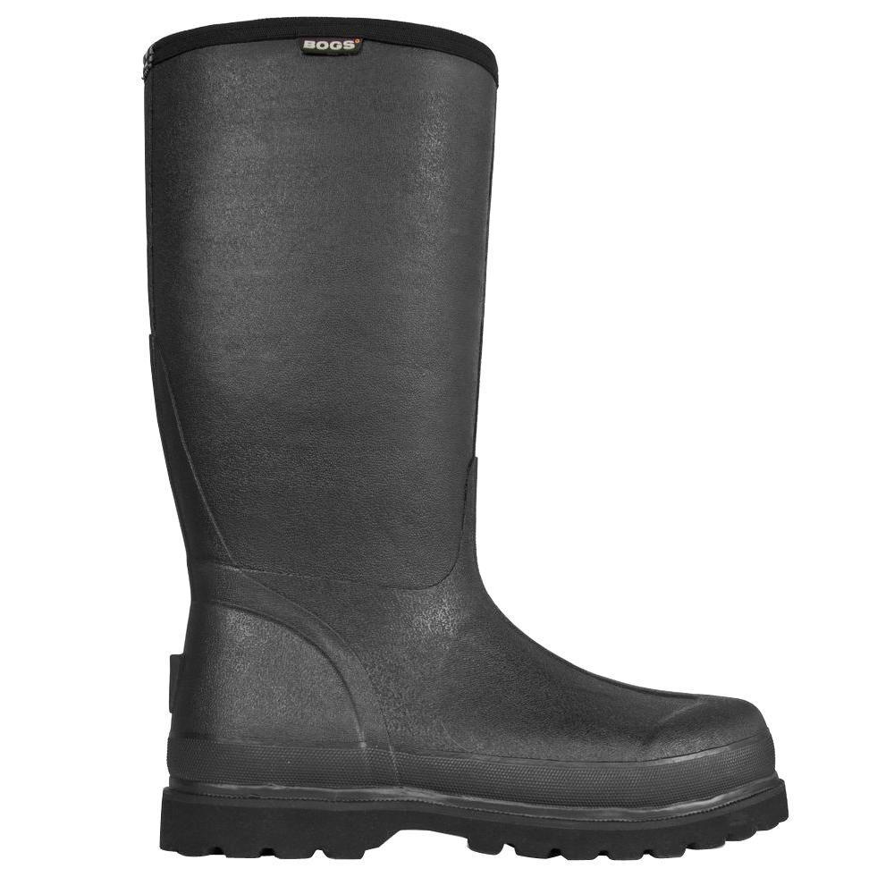 BOGS Rancher Lite Men 16 in. Size 10 Black Waterproof Natural Rubber Boot