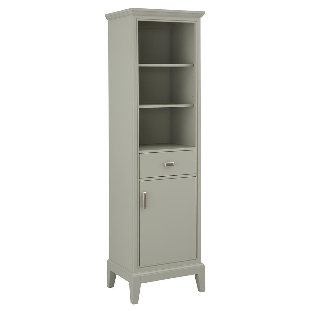 Shaelyn 20 in. W x 70 in. H Linen Cabinet in Sage Green