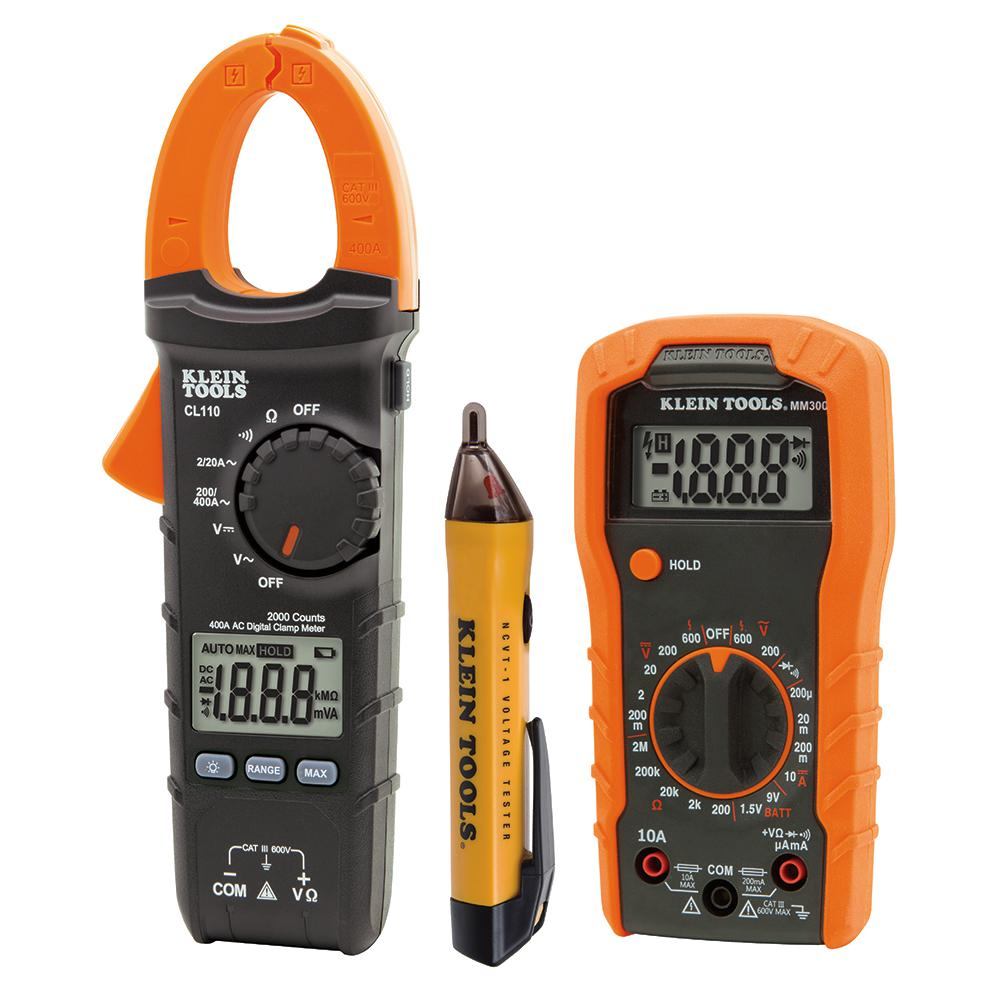 Multimeter For Home : Klein tools piece meter and test kit z the home depot