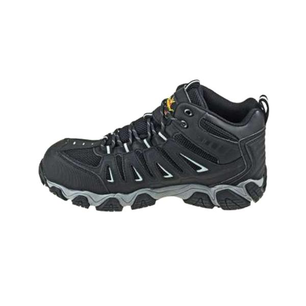Black/Gray Mid Cut Composite Safety Toe