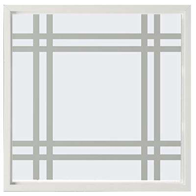 23.5 in. x 23.5 in. Prairie Decorative Glass Picture Vinyl Window - White