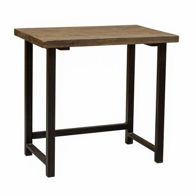 32 in. Rectangular Natural Writing Desk with Open Storage