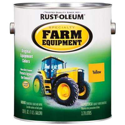 1 gal. Farm Equipment Caterpillar Yellow Gloss Enamel Paint (2-Pack)