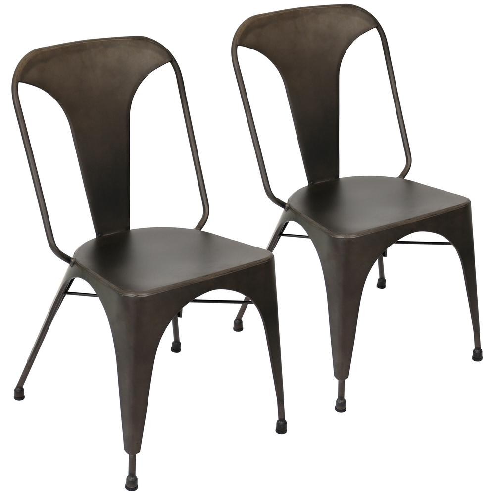 Lumisource Austin Antique Metal Dining Chair (Set of 2) - Lumisource Austin Antique Metal Dining Chair (Set Of 2)-DC-TW-AU AN2