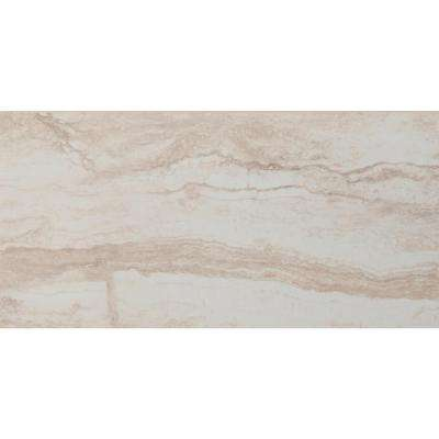 Romagna Ivory 12 in. x 24 in. Polished Porcelain Floor and Wall Tile (16 sq. ft. / case)