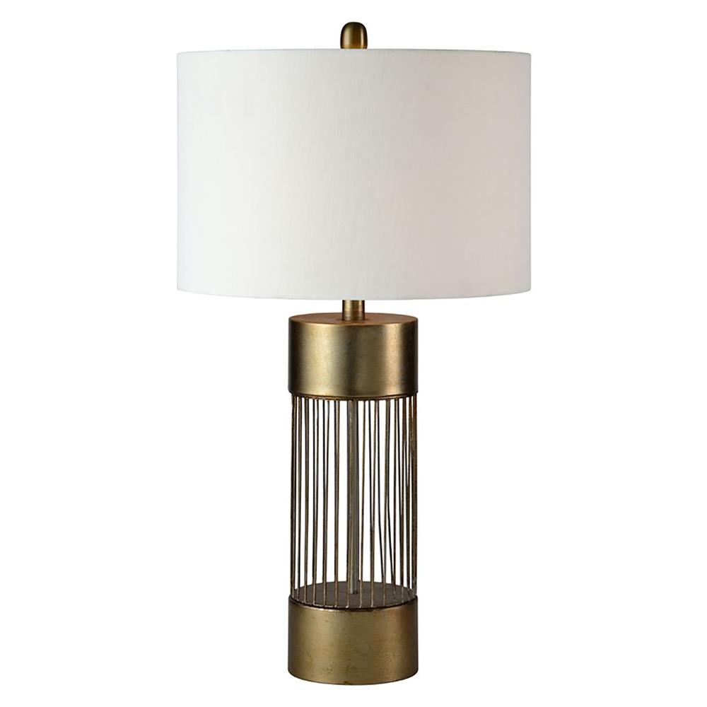 Renwil ventura 27 in antique gold table lamp lpt624 the home depot antique gold table lamp aloadofball Gallery