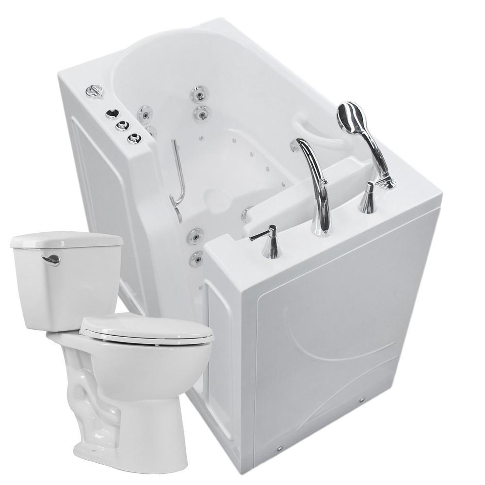 Universal Tubs Nova Heated 45.75 in. Walk-In Whirlpool and Air Bath ...