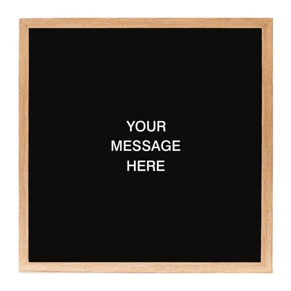 f54fbc73f603d Letterlove with 150 White Magnetic Letters, Rustic Brown Frame, Magnetic  Memo Board