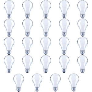 60-Watt Equivalent A19 Frosted Glass Vintage Decorative Edison Filament Dimmable LED Light Bulb Daylight (24-Pack)