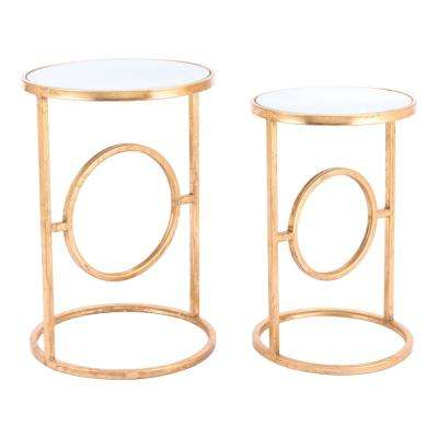 Aro Gold End Tables Gold