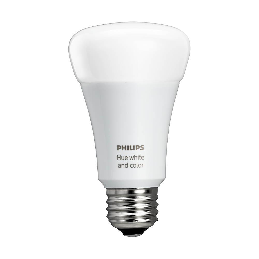 Philips hue white and color ambiance a19 60w equivalent dimmable led smart bulb 464487 the Smart light bulbs