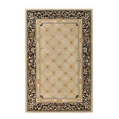 Churchill Beige with Design 9 ft. 6 in. x 13 ft. 9 in. Area Rug