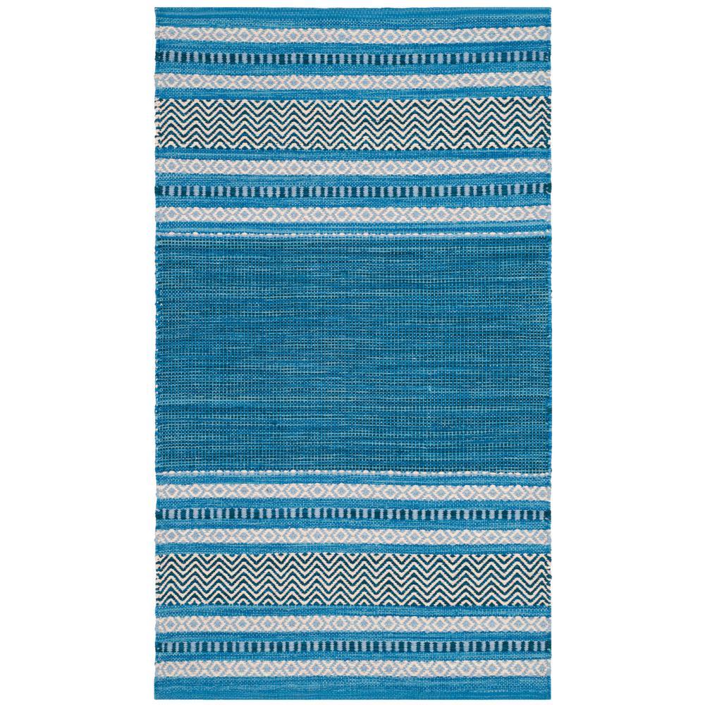 Montauk Blue/Gray 2 ft. 6 in. x 4 ft. Area Rug