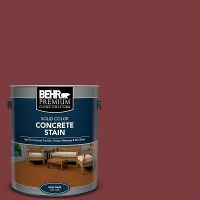 1 gal. #PFC-02 Brick Red Solid Color Flat Interior/Exterior Concrete Stain
