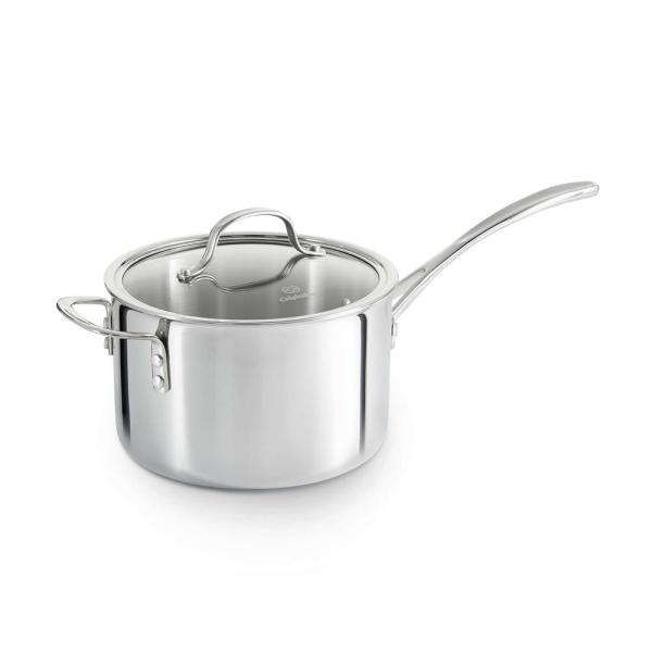 Calphalon Tri-Ply 4.5 qt. Stainless Steel Sauce Pan with Cover 1767983