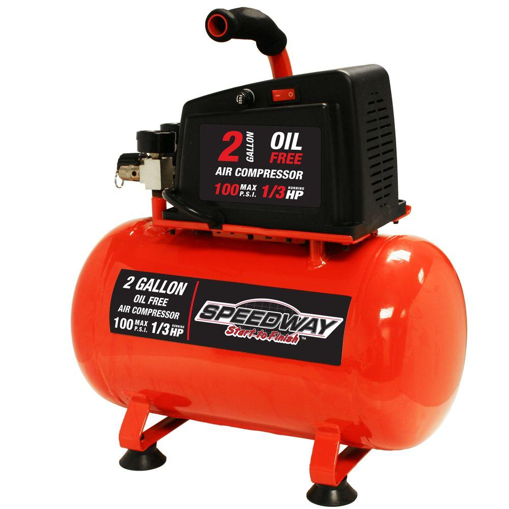 SPEEDWAY 2 Gal. Hot Dog Oil-Free Air Compressor