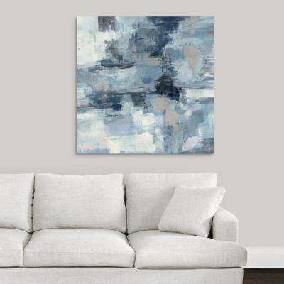 """In the Clouds - Indigo and Gray"" by Silvia Vassileva Canvas Wall Art"