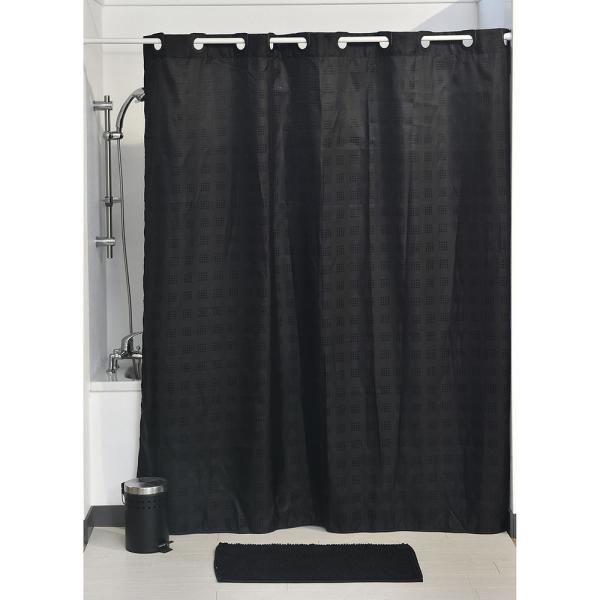 "Black /& WHITE Marble Design Shower Curtain W Hooks Waterproof Fabric 60/""W X 72/""H"