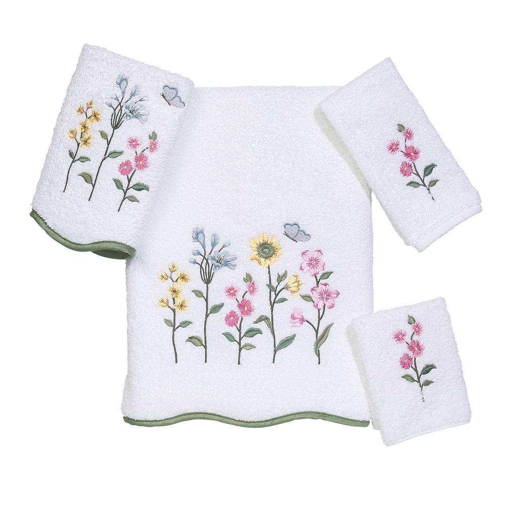 Avanti Linens Premier Country Floral 4-Piece Bath Towel Set in White