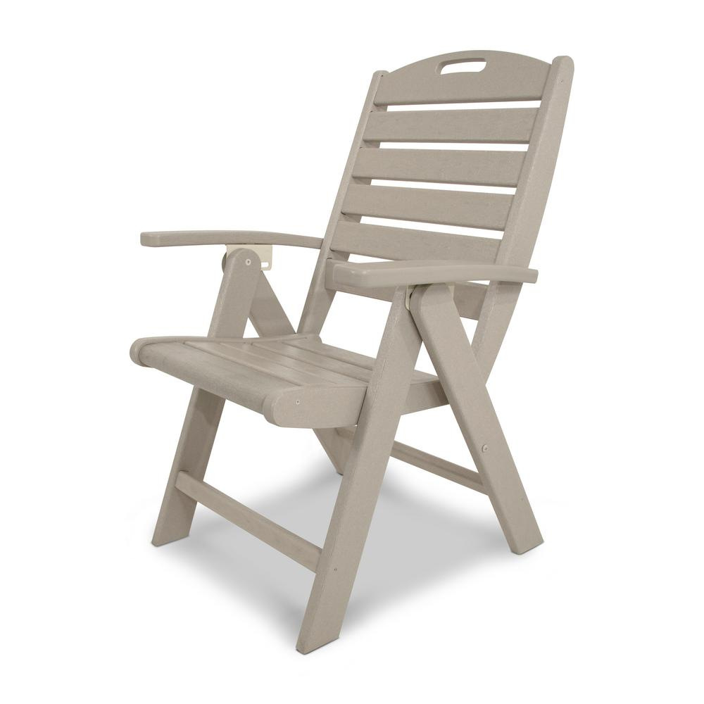 Yacht club sand castle highback patio folding chair