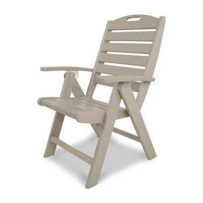 Yacht Club Sand Castle Highback Patio Folding Chair  sc 1 st  The Home Depot & Folding - Outdoor Lounge Chairs - Patio Chairs - The Home Depot
