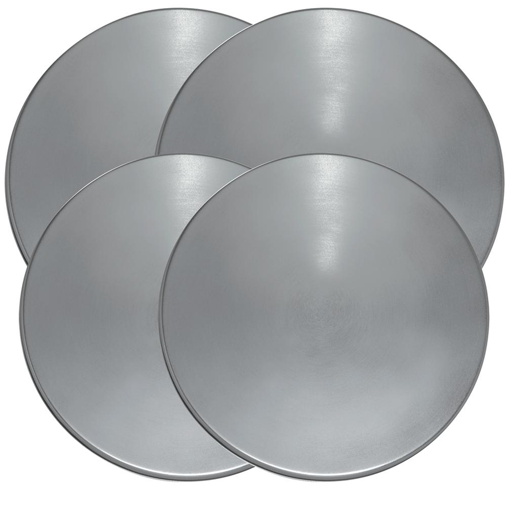 Range Kleen Round Burner Kovers in Stainless Steel