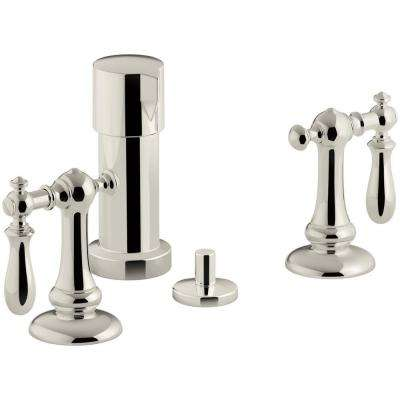 Artifacts Swing Lever 2-Handle Bidet Faucet in Vibrant Polished Nickel
