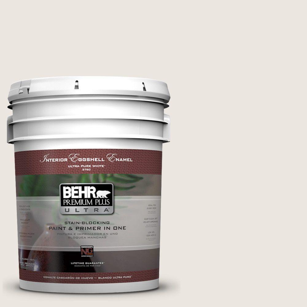 BEHR Premium Plus Ultra 5-gal. #N330-1 Milk Paint Eggshell Enamel Interior Paint