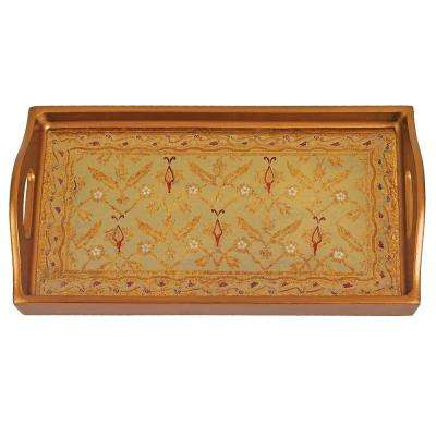 12.5 in. x 6.75 in. Antigua Sand Small Rectangle Tray
