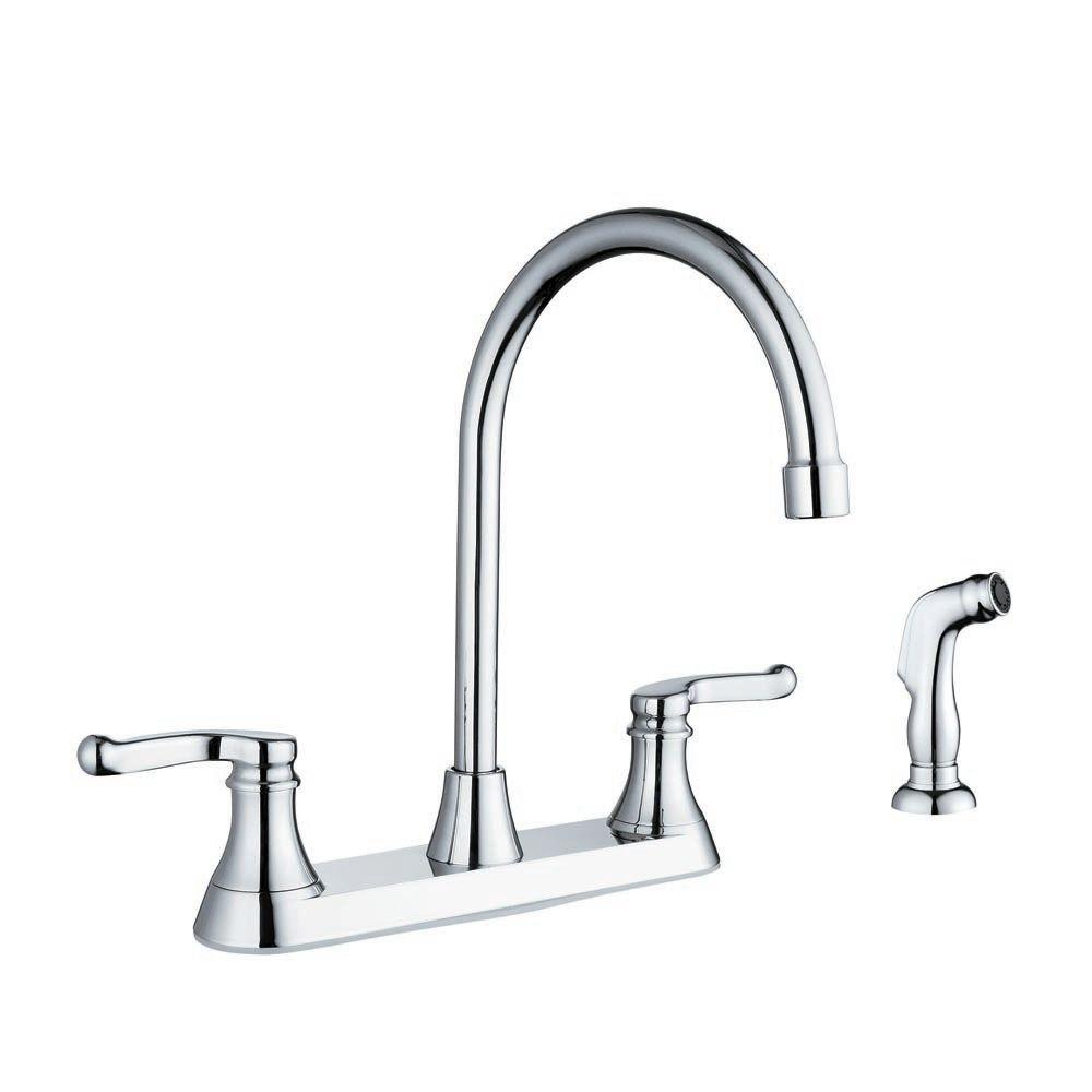 Sheffield Home Esperanza 2-Handle Side Sprayer Kitchen Faucet in Polished Chrome-DISCONTINUED
