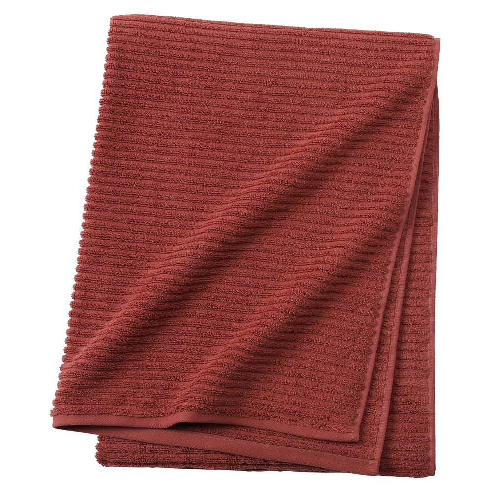 Home Decorators Collection Monterey 1 Piece Ribbed Turkish Bath Towel In Brick 9855220120 The