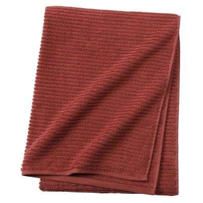 Monterey 1-Piece Ribbed Turkish Bath Towel in Brick