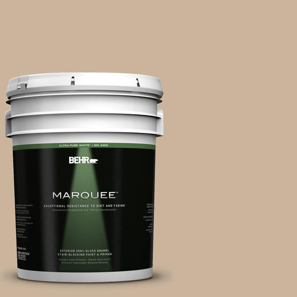 5-gal. #PPU4-7 Mushroom Bisque Semi-Gloss Enamel Exterior Paint