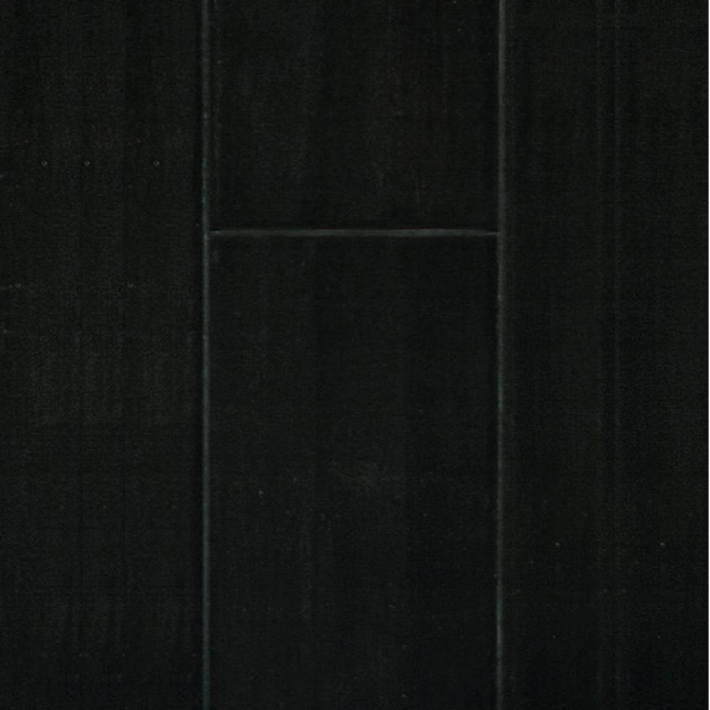 Handscraped Ebony Strand Engineered Bamboo Flooring - 5 in. x 7