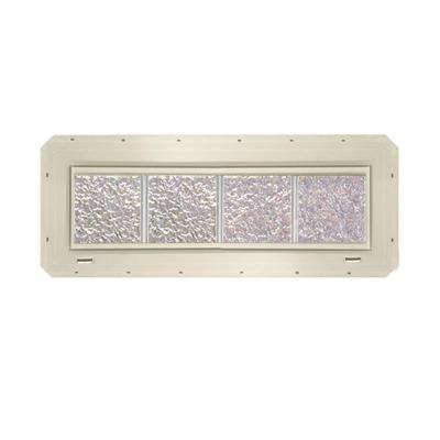 31.75 in. x 9.25 in. x 3.25 in. Ice Pattern Vinyl Glass Block Window with Almond Nailing Fin