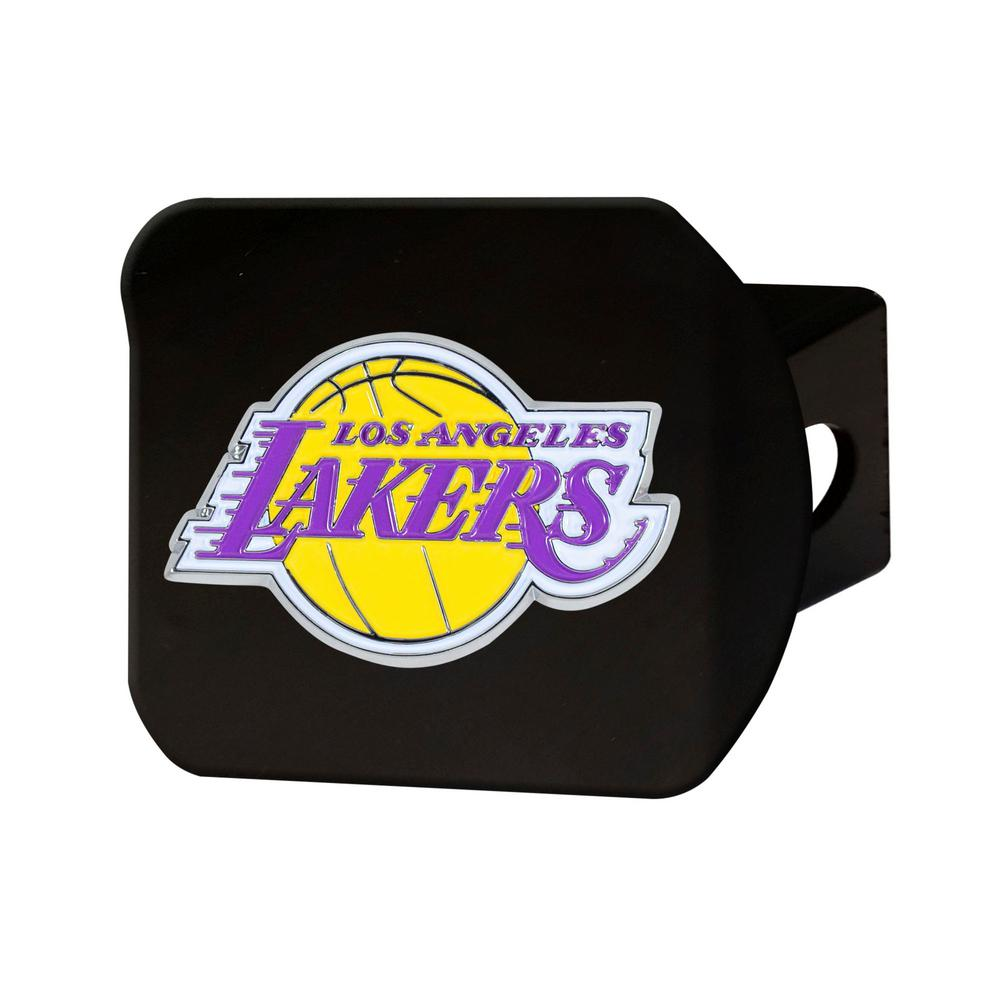 NBA Los Angeles Lakers Color Emblem on Black Hitch Cover