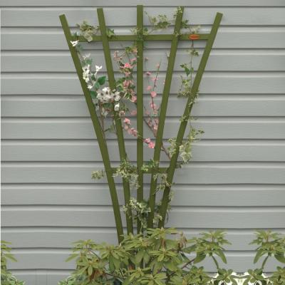 Dried Sage Recycled Plastic Hartford Fan Trellis