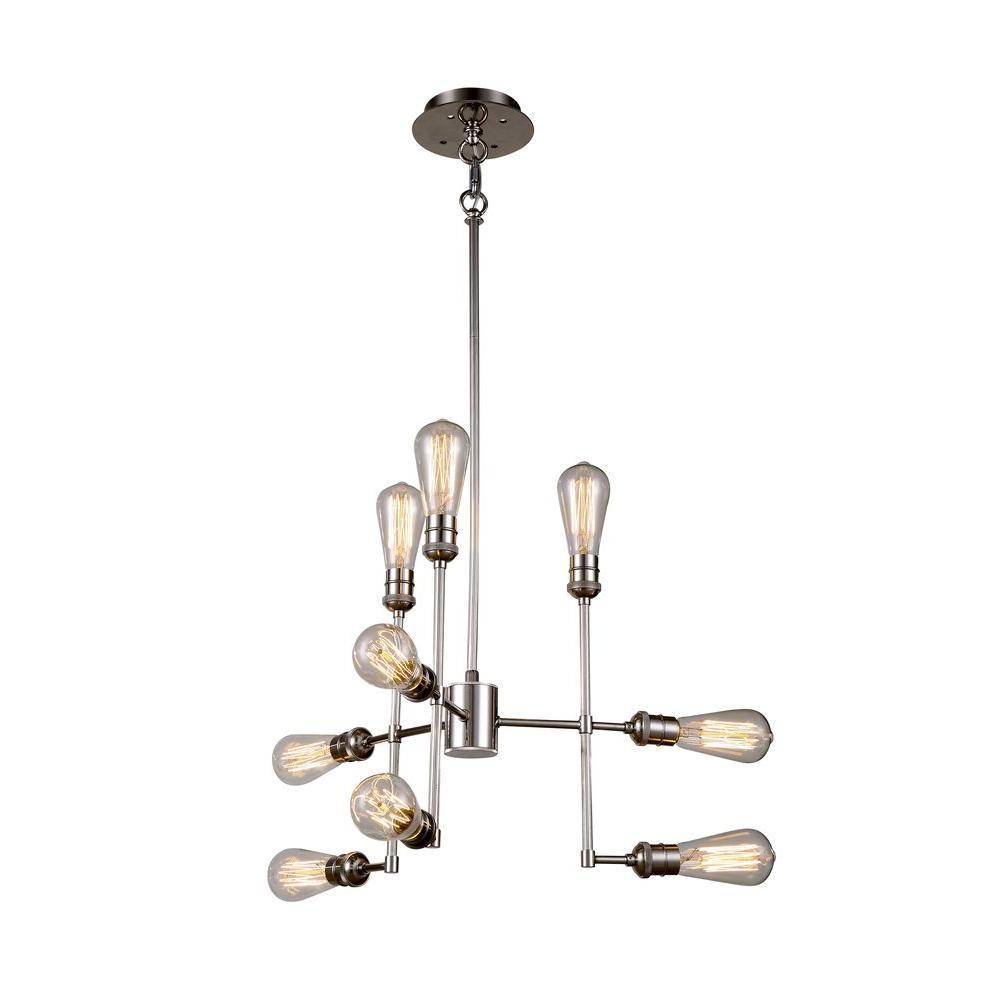 Elegant Lighting Ophelia 9-Light Polished Nickel Pendant