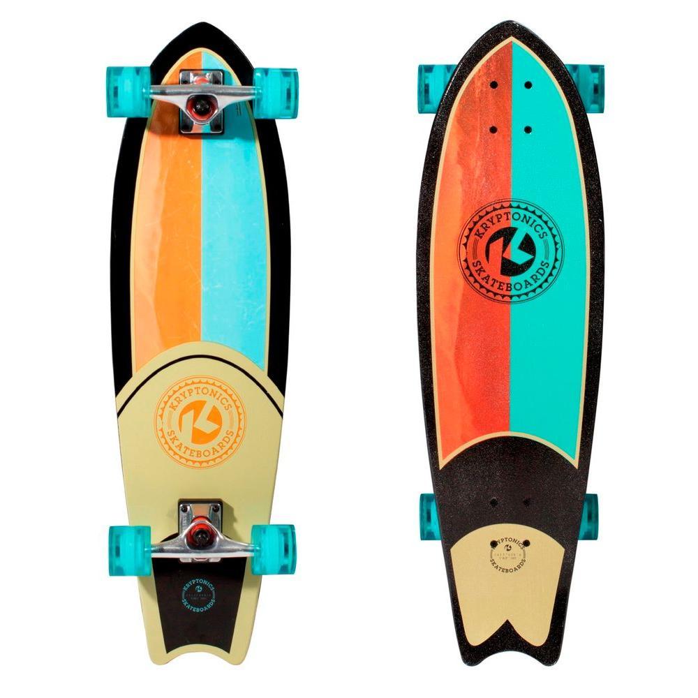Kryptonics Shore Line 32 in. Mini Swallowtail Cruiser Skateboard