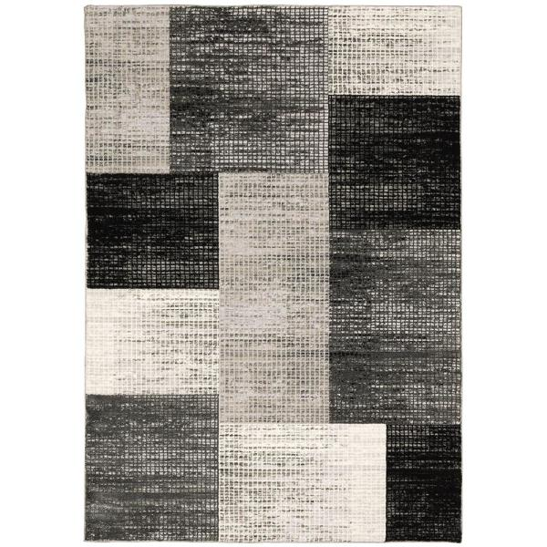 Paramount Gray 5 ft. x 7 ft. Plaid Area Rug