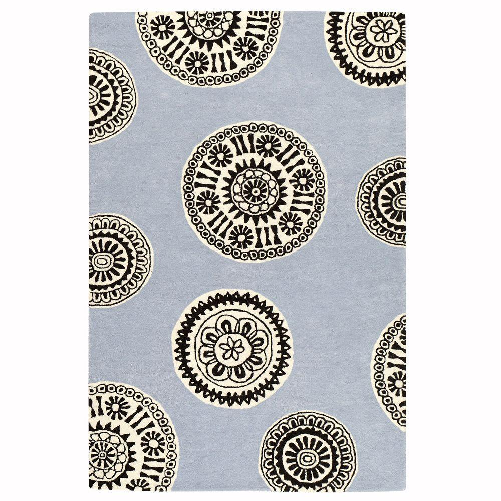 Home Decorators Collection Palo Blue/White 2 ft. 3 in. x 3 ft. 9 in. Area Rug