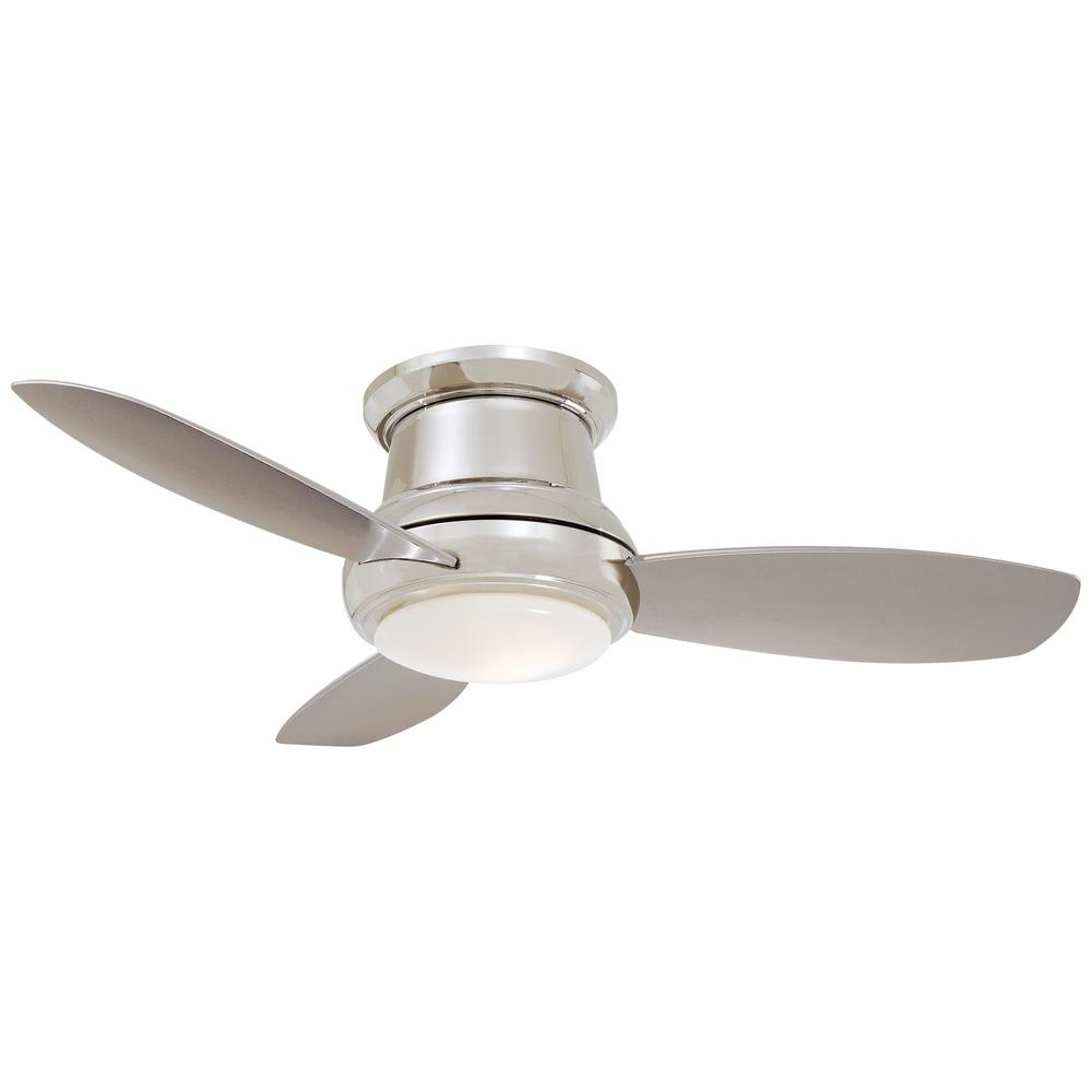 Concept II 44 in. Integrated LED Indoor Polished Nickel Ceiling Fan with Light with Remote Control