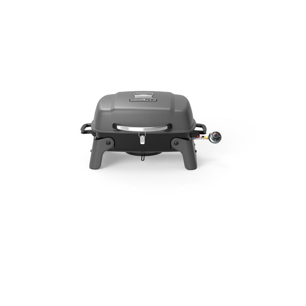 Nexgrill 1-Burner Portable Propane Gas Table Top Grill in Black